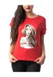 Tricou Dama TRICOU 8107 GIRL Rosu Adrom