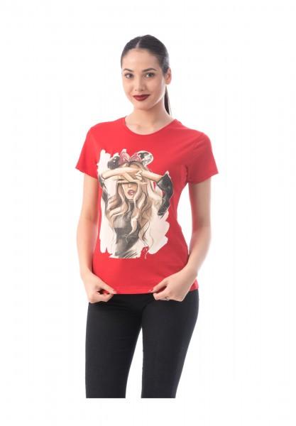Tricou Dama TRICOU 8180 Rosu Adrom