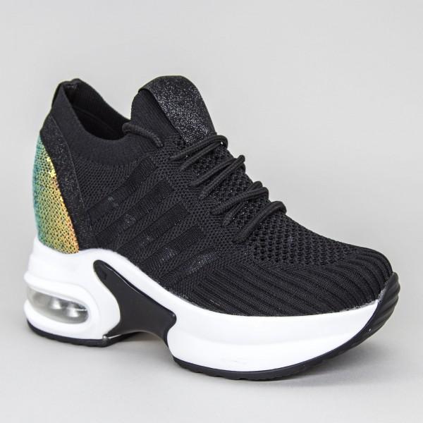 Pantofi Sport Dama cu Platforma SJN276 Black-white Mei
