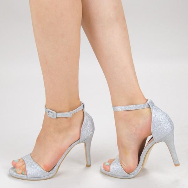 Sandale Dama cu Toc XD250YA Silver Mei