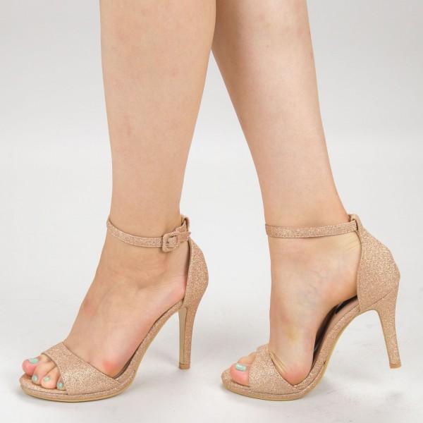 Sandale Dama cu Toc XD250YA Champagne Mei