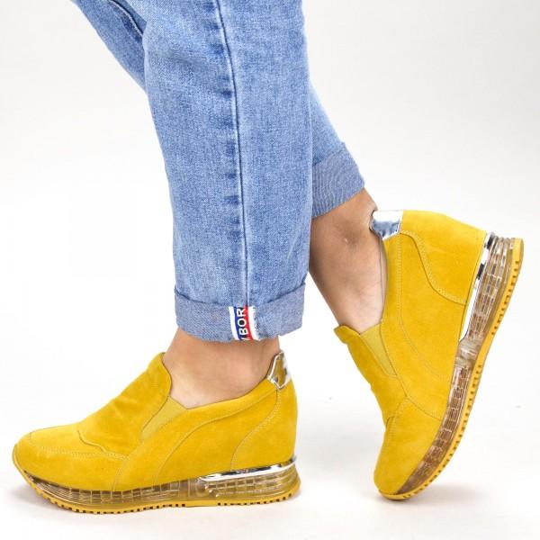 Pantofi Sport Dama cu Platforma SZ212 Yellow Mei