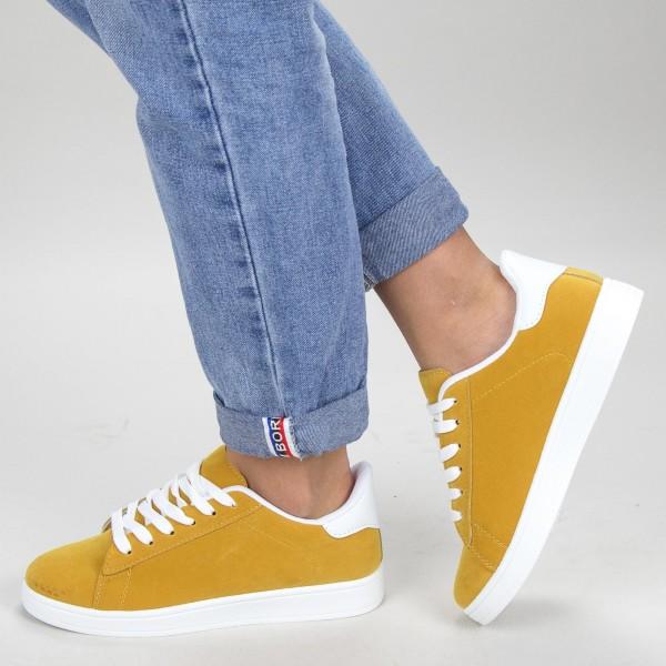 Pantofi Sport Dama YKQ117 Yellow-white Mei