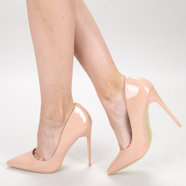 Pantofi cu Toc GE37A Nude Mei