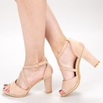 Sandale Dama cu Toc XD237T Pink Mei