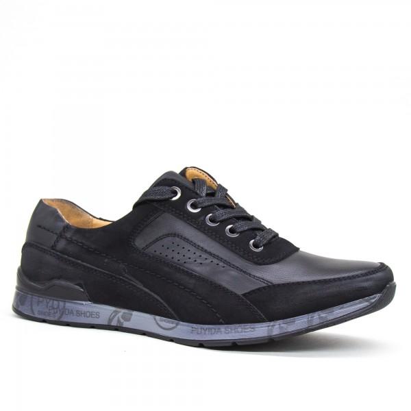 Pantofi Barbati 6A37-1 Black Clowse
