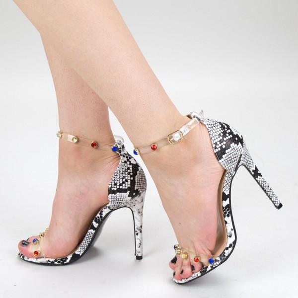 Sandale Dama cu Toc XKK168 Snake Mei