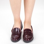 Pantofi Casual Dama GH19120 Maroon Mei