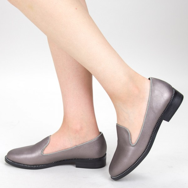 Pantofi Casual Dama GH19120A Pewter Mei