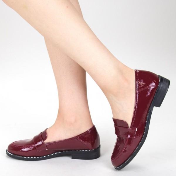 Pantofi Casual Dama GH19121 Maroon Mei