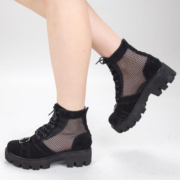 Ghete de Vara E03 Black Fashion