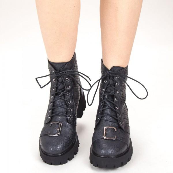 Ghete Dama de Vara E09 Black Fashion