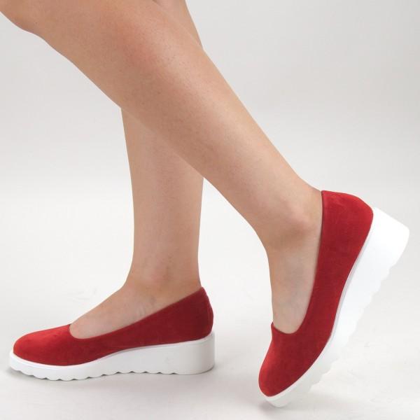 Pantofi Casual Dama HJ12 Red Mei