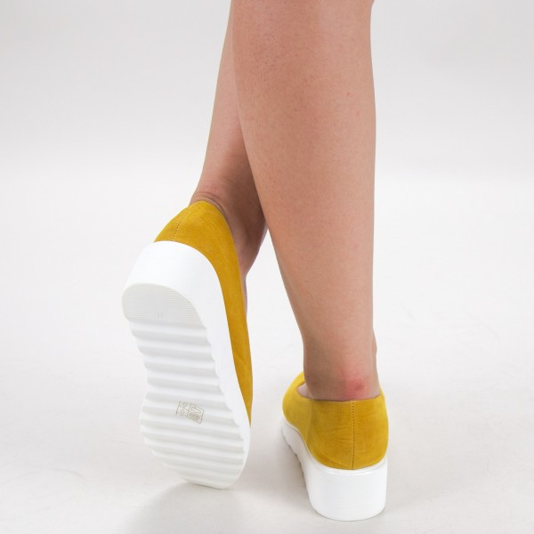 Pantofi Casual Dama HJ12 Yellow Mei
