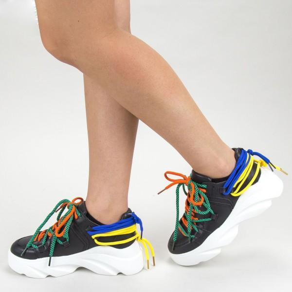 Pantofi Sport Dama 9033 PSD Black Sport Fashion