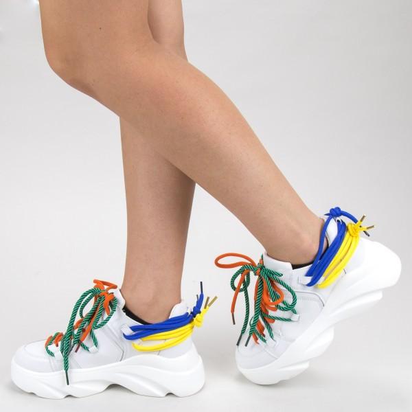Pantofi Sport Dama 9033 PSD White Sport Fashion