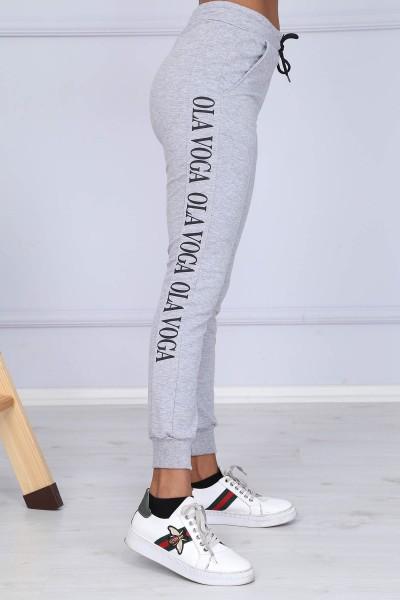 Pantaloni Dama 8382 OLA VOGA Gri-Deschis Adrom
