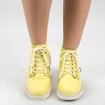 Ghete Dama 961 GD Yellow Fashion