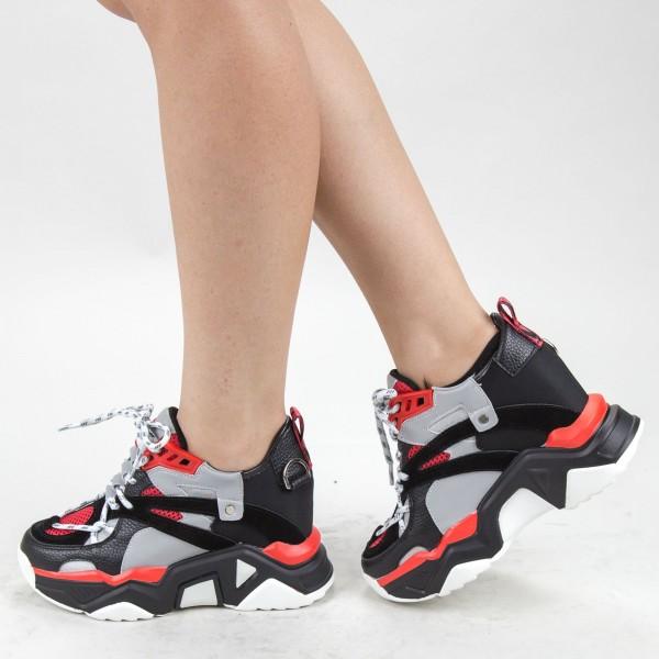 Pantofi Sport Dama cu Platforma SJN281 Red Mei