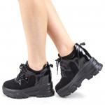 Pantofi Sport Dama cu Platforma SJN301 Black Mei