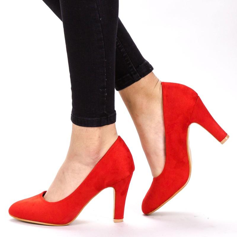 Pantofi cu Toc YXD3A Red Mei