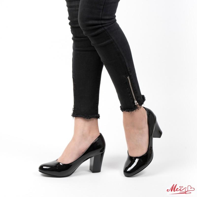 Pantofi cu Toc QZL25 Black Mei