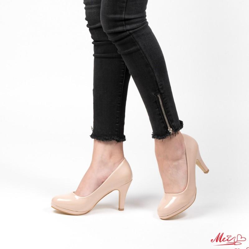 Pantofi cu Toc QZL65 Nude Mei