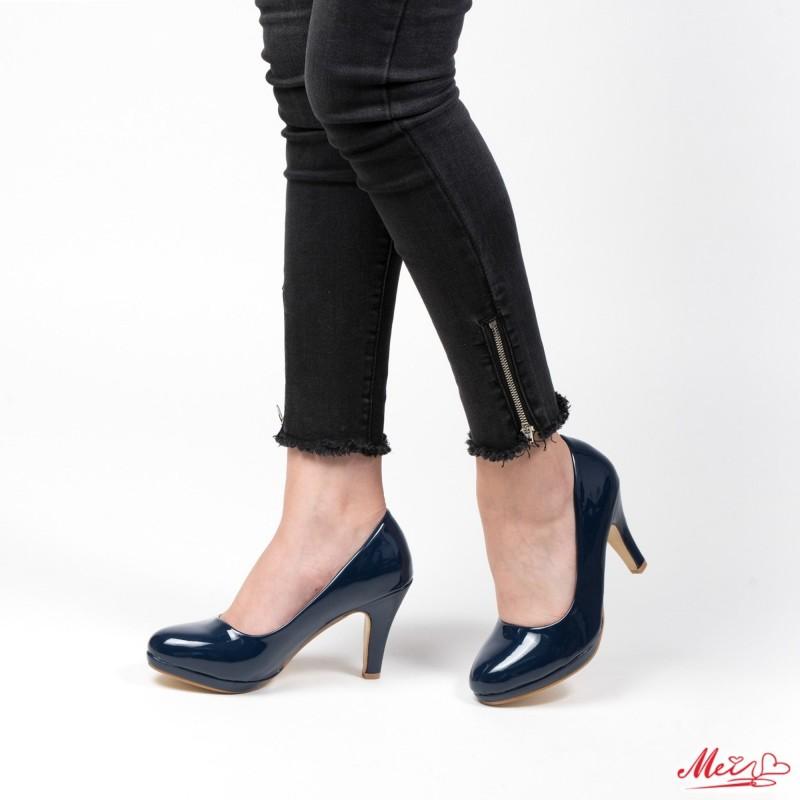 Pantofi cu Toc QZL65 Blue Mei