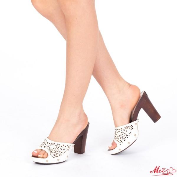 Papuci Dama cu Toc GH21 White Mei