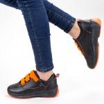 Pantofi Sport Dama XC7 02 BLACK-ORANGE MEI