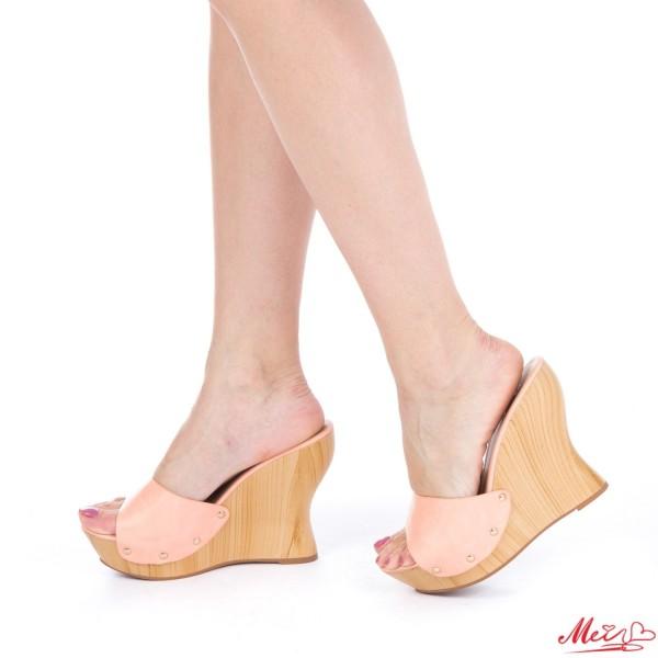 Papuci Dama cu Platforma GH7 Pink Mei