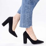 Pantofi cu Toc gros TY6 Black Mei