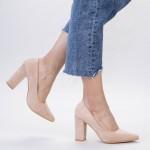 Pantofi cu Toc gros TY6 Nude Mei
