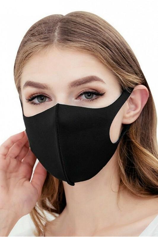 Masca de protectie reutilizabila din burete, ambalata individual, neagra Mei