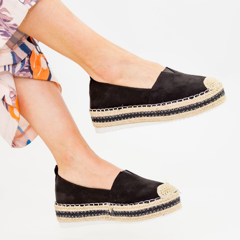 Pantofi Casual Dama cu Platforma FS7 Black Mei
