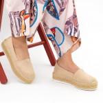 Pantofi Casual Dama cu Platforma FS7 Beige Mei
