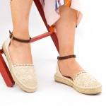 Sandale Dama cu Toc si Platforma HJ3 Beige Mei
