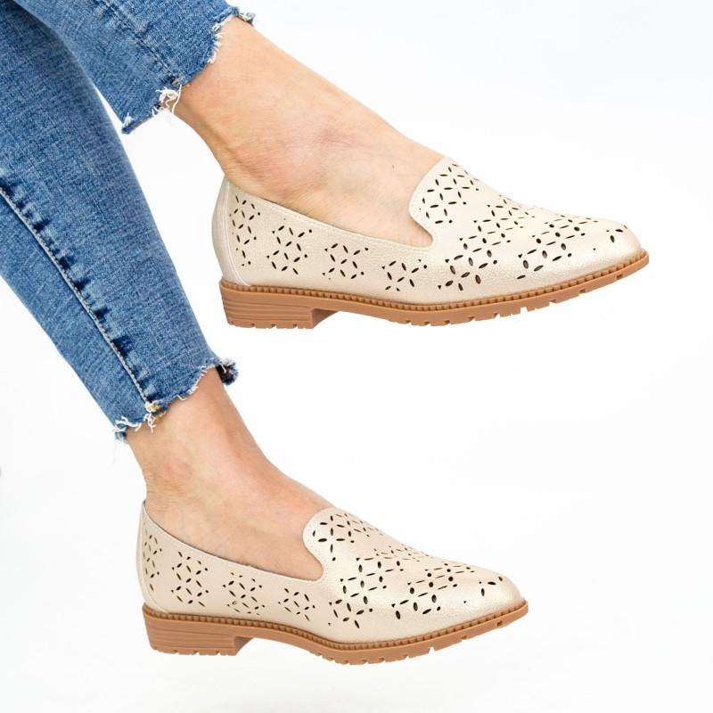 Pantofi Casual Dama YEH10 Champagne Mei