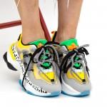 Pantofi Sport Dama cu Platforma YKQ205 Yellow Mei