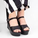 Sandale Dama Cu Platforma CZMY2 Black Mei