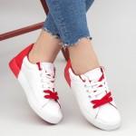 Tenisi Dama CD305 White-Red Mei