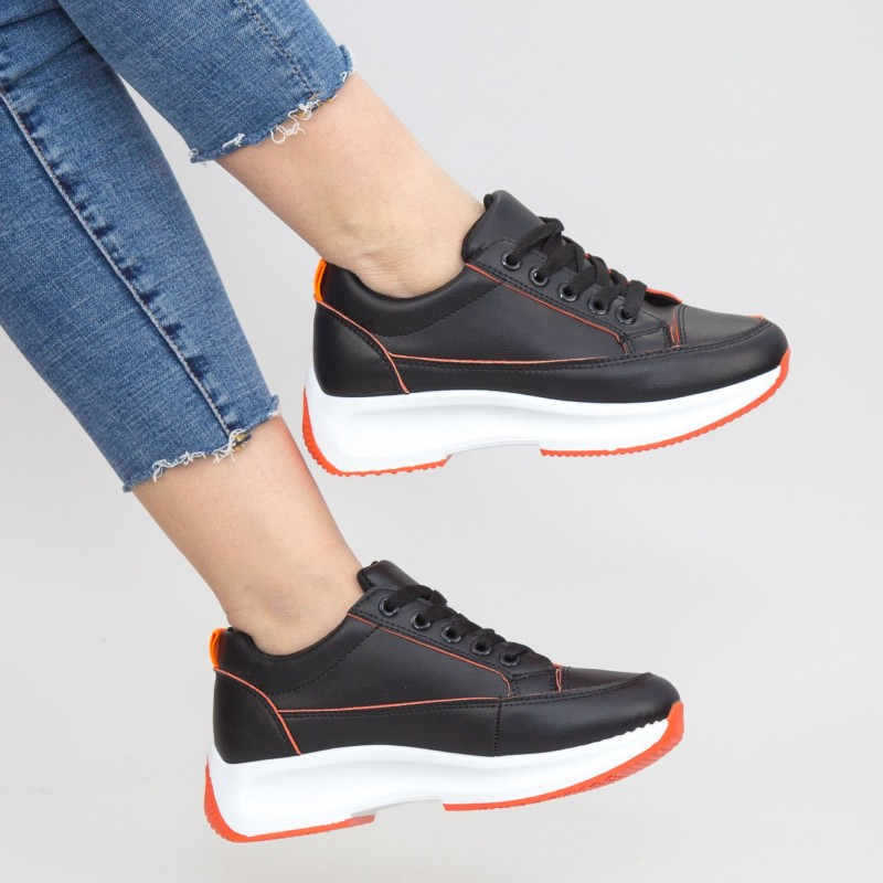 Pantofi Sport Dama XC8 Black-orange Mei