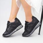 Pantofi Sport Dama cu Platforma SZ257 Black Mei
