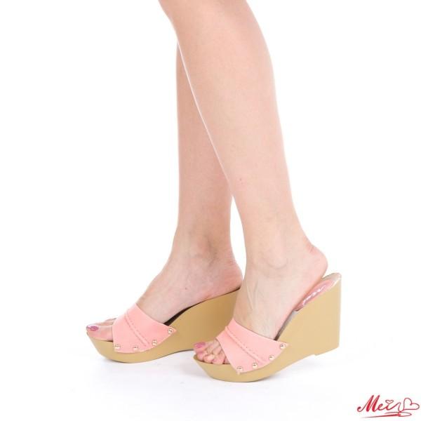 Papuci Dama cu Platforma HL206 Pink Mei