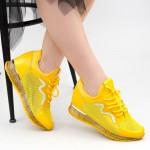 Pantofi Sport Dama cu Platforma SZ258 Yellow Mei