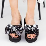Papuci cu Platforma Dama TG2 Black Mei