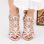 Sandale Dama cu Toc KV9 Pink Mei