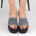 Papuci Dama cu Platforma TG11 Grey Mei