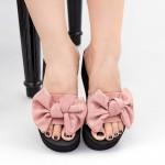Papuci Dama cu Platforma NX2 Pink Mei