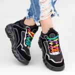 Pantofi Sport Dama cu Platforma SZ238 Black Mei